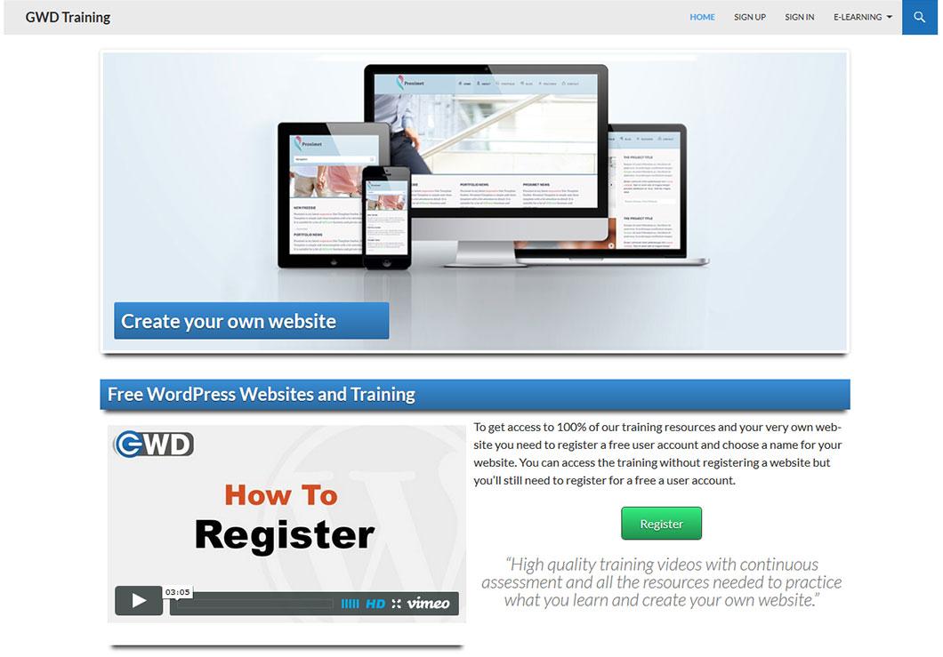GWD Training Website