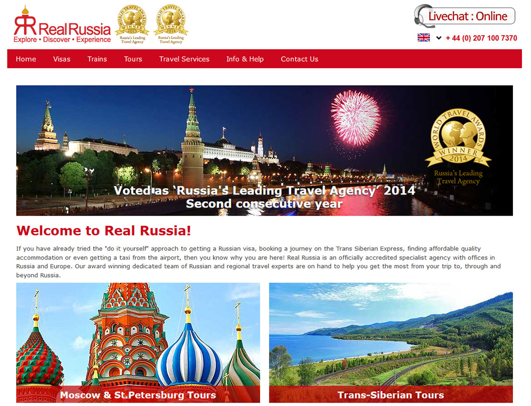 Real Russia Website
